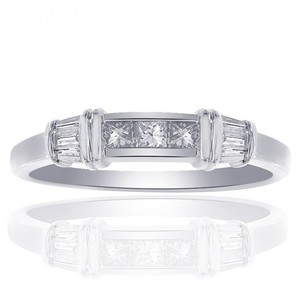 Avital & Co Jewelry 14k White Gold 0.50 Carat Diamond Ring Women's Wedding Band