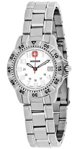 Wenger 72629 Mountaineer Women's Silver Steel Bracelet With Silver Dial