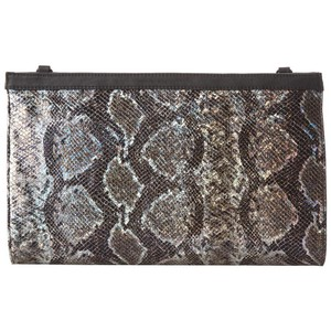 French Connection Python Snake Metallic Clutch