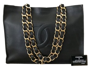 Chanel Maxi Flap Boy Caviar Birkin Tote in Black