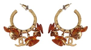 Chanel CHANEL NWT AMBER CRYSTAL HOOP POST EARRINGS ($895)