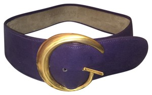 Donna Karan Vintage Suede Belt/ Gold Buckle