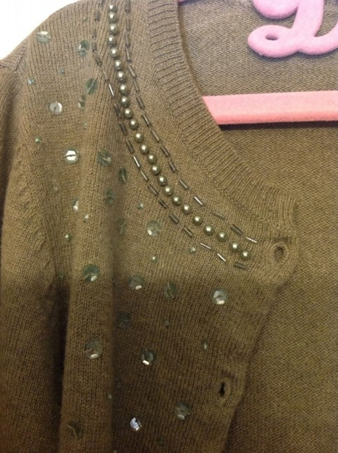 American Eagle Outfitters Beaded Sequins Soft Cozy Sweater Cardigan