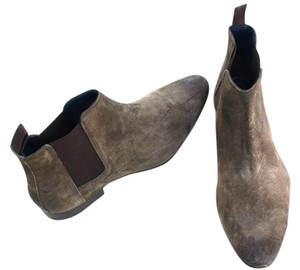 Frank Wright Suede Mens Green/Black/Brown Boots