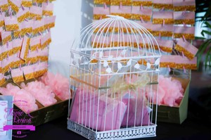 (#2) Love Birds Wedding Party Guest Card Display