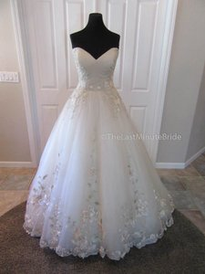 Sottero and Midgley Blush/Pewter/Gold Accents Tulle Lace Decadence 7sg431 Feminine Wedding Dress Size 14 (L)
