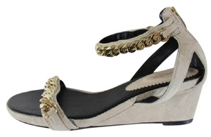 ElyseWalker Los Angeles Chain Wedge Nude Sandals - item med img