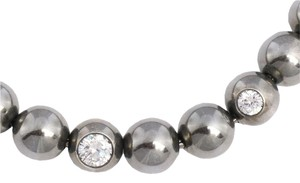 Bottega Veneta Sterling Silver & Crystal Ball Necklace