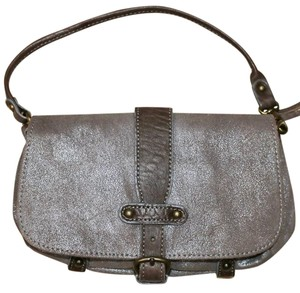 ABACO European Paris Studded Rocker Satchel in Brown