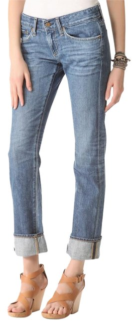 Item - 12 Years Ash Medium Wash Tomboy Relaxed Distressed Boyfriend Cut Jeans Size 25 (2, XS)