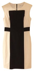 Calvin Klein Sheath New With Tags Color-blocking Dress