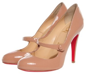 Christian Louboutin Mary Jane Nude Pumps