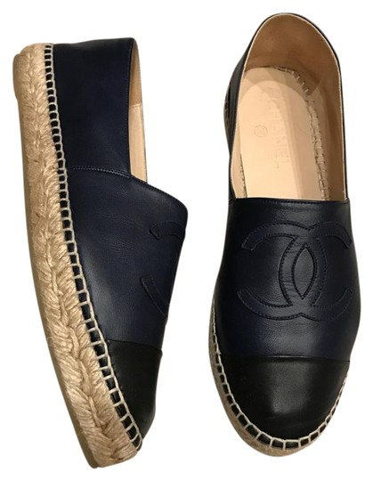 Preload https://img-static.tradesy.com/item/21437808/chanel-black-navy-leather-espadrilles-flats-size-eu-41-approx-us-11-regular-m-b-0-1-540-540.jpg