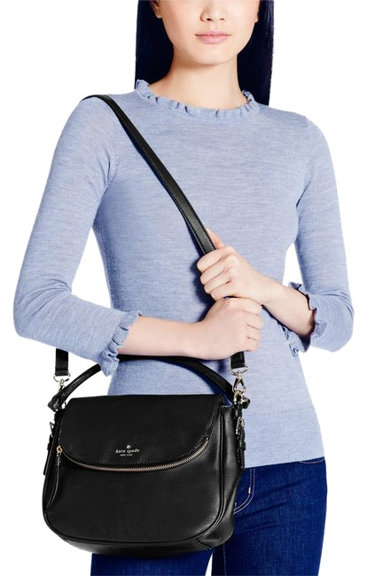 Item - New York New with Tag Boerum Place Small Devin - Black Pebbled Leather Shoulder Bag