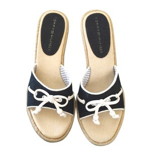 Tommy Hilfiger black and white Wedges