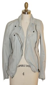 Muubaa Grey Leather Jacket