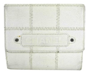 Chanel Basebill Stich White Caviar Wallet 217754
