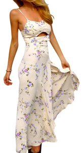 Off-white with floral Maxi Dress by Flynn Skye