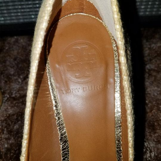 Tory Burch Gold Metallic Platforms