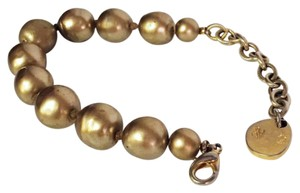 Karl Lagerfeld RARE vintage runway couture faux gold pearl nugget knotted bracelet