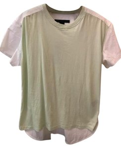 Marc Jacobs Cotton Mix Top green and white