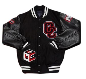 Opening Ceremony Varsity Leather Classic black and red Jacket