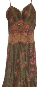 green & pink Maxi Dress by Zain Boutiqe Couture