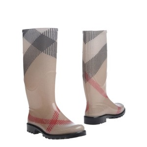 Burberry beige black red Boots