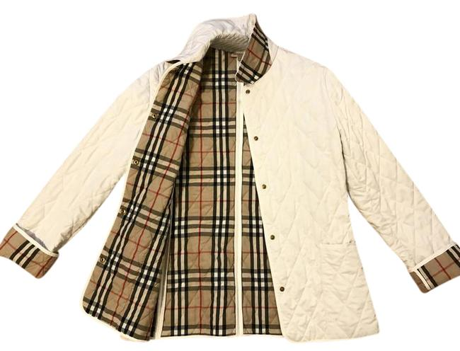 Item - White Quilted Snap Jacket Size 6 (S)