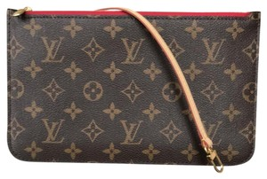 Louis Vuitton Neverfull Mm Gm Clutch Neverfull Pouch Clutch Neverfull Wristlet in red