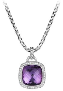 David Yurman Albion Pendant with Amethyst and Diamonds, 14mm
