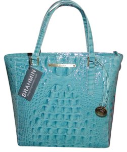Brahmin Harrison Small Melbourne Leather Tote in Glass