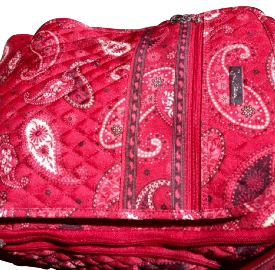 8a5e02a14d Vera Bradley Roller Stand-up Carryon Mesa Red Paisley Polyester ...
