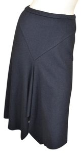 NICOLE FARHI Wool Edgy Soft New York Skirt Black