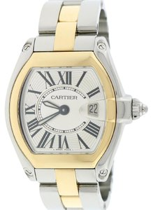 Cartier Cartier Roadster Ladies Small Gold/Steel Roman Dial W62026Y4 B&P