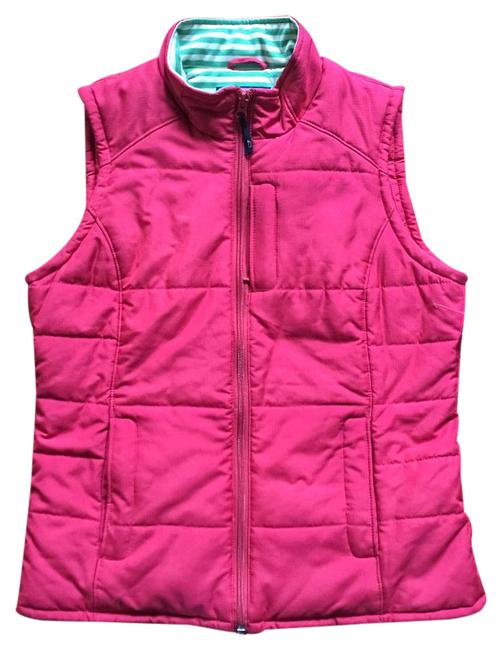 Item - Orange Pink and Green Puffer Vest Size 8 (M)