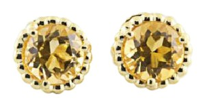 Tiffany & Co. Authentic Tiffany & Co 18K Yellow Gold Citrine Gemstone Earring Studs