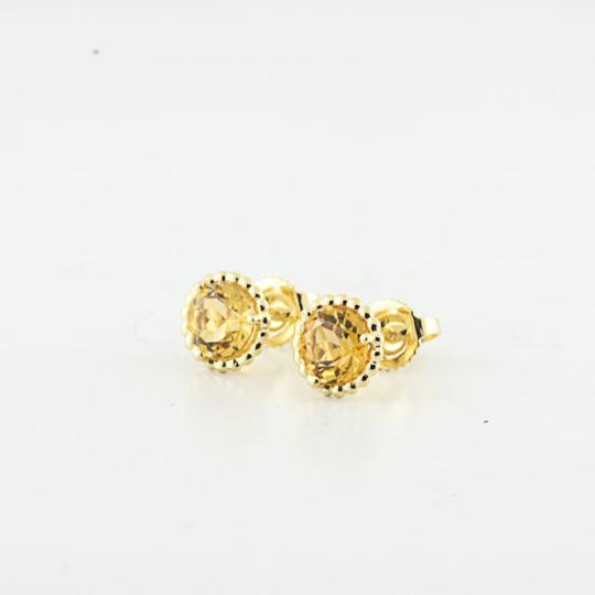 Tiffany & Co. Authentic Tiffany & Co 18K Yellow Gold Citrine Gemstone Earring Studs Image 1
