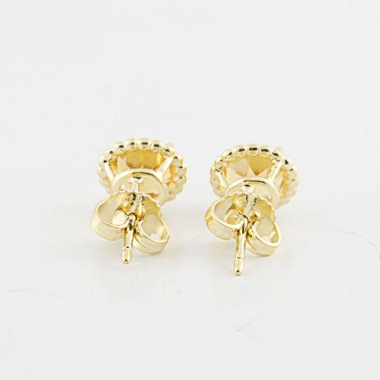 Tiffany & Co. Authentic Tiffany & Co 18K Yellow Gold Citrine Gemstone Earring Studs Image 2