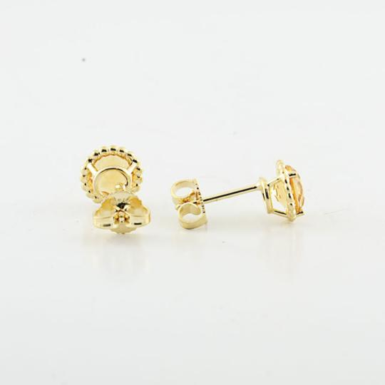 Tiffany & Co. Authentic Tiffany & Co 18K Yellow Gold Citrine Gemstone Earring Studs Image 3