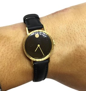 Movado Ladies 14k Yellow Gold Movado Wristwatch with Speidel Watchband