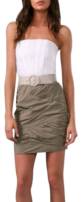 Item - White & Olive Anna Strapless with Ruched Skirt Short Casual Dress Size 0 (XS)