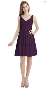 Bill Levkoff Plum Chiffon 725 Feminine Bridesmaid/Mob Dress Size 6 (S)