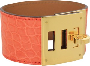 Hermès Hermes Kelly Dog Orange Niloticus Crocodile Bracelet
