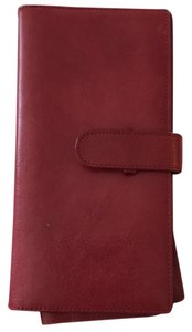 Danier red leather passport and travel wallet