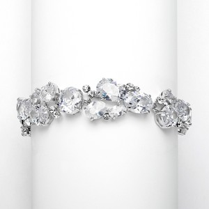 Mariell Hollywood Glam Brilliant A A A Crystals Couture Bridal Bracelet