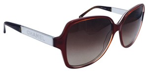b65cec650a Chanel Round Scarlet Red and Brown Collection Miroir Sunglasses 5168 1186 3B