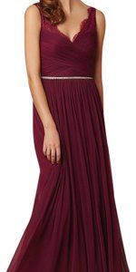 BHLDN Black Cherry (Deep Red) Fleur Formal Bridesmaid/Mob Dress Size 8 (M)