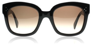 Cline NEW Celine New Audrey CL 41805/S Black Oversized Sunglasses