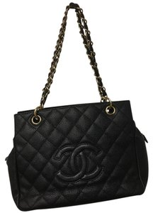 Chanel Designer Quilted Tote in black